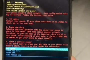 很多三星手机体系溃散呈现黑屏乱码无限重启